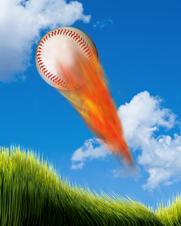 Baseball on fire  with room for your type.