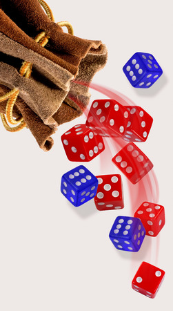 Rolling the blue and red dice.