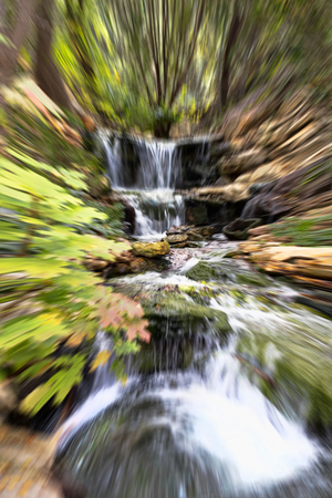 Cool natures blurred waterfall background. Stock Photo
