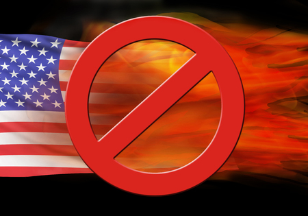 No burning the American flag.