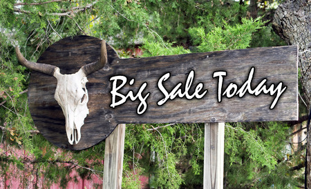 Big Sale today on large outdoor sign board.