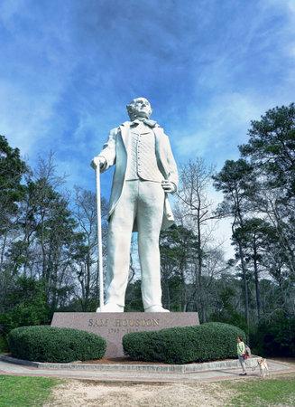 statesman: Huntsville,Texas - Feb.7,2017  Statue of Sam Houston Texas statesman 70 feet tall dedicated Oct.22,1994.