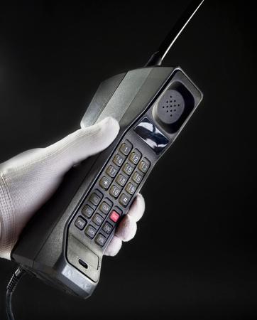 Telefono cellulare originale di tipo ingombranti originale. Archivio Fotografico - 77506373
