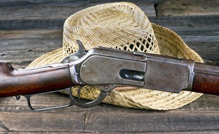 winchester: Antique lever action gun that won the wild west.