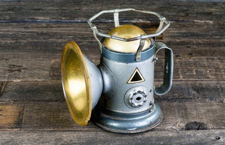 flashlights: Antique railroad powerlite lantern made in the 1930s.