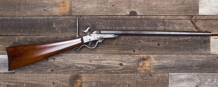 Antique American Civil War era rifle made around 1863 with room for your type. Stock Photo