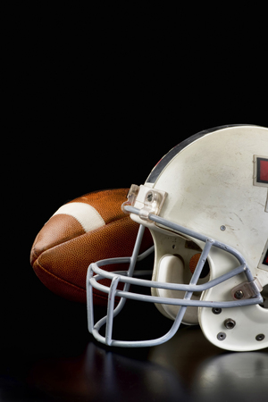 American football with room for your type. Stock Photo