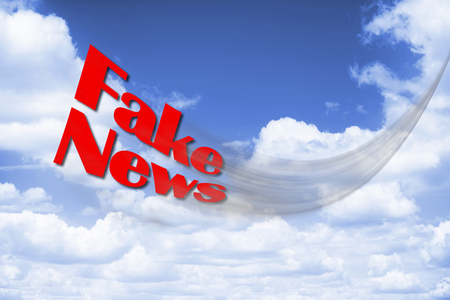 fake newspaper: The Fake News flying fast and fake.