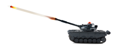 American fire power with tank firing. Stock Photo