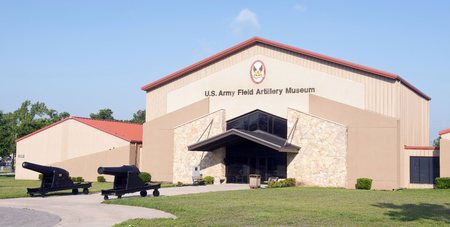 Fort Sill, Oklahoma -  May 2016  US Army Field Artillery Museum outdoor display.