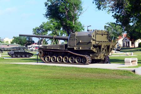 oklahoma: Fort Sill, Oklahoma -  May 2016  US Army Field Artillery Museum outdoor display.