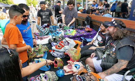 Fort Worth,Texas - Oct.21,2017  Artist fair on the trendy South Side of Fort Worth,Texas.