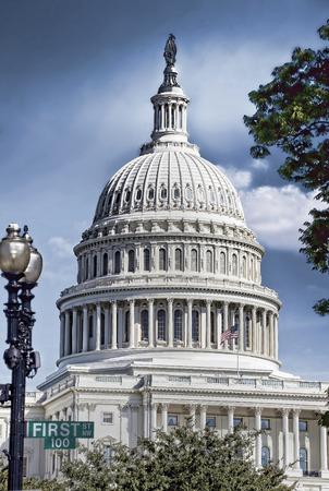 American Capital Building in Washington DC . Stock Photo