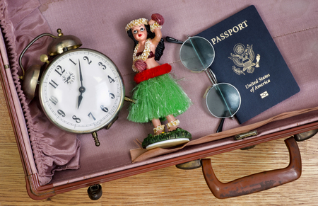 Time to go on a tropical vacation. Stock Photo
