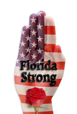 Florida strong hand with America behind her.
