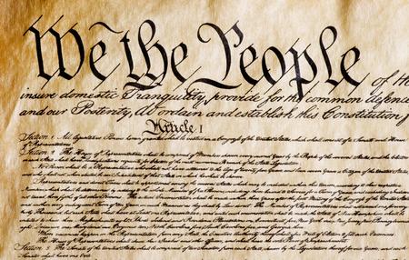 Grondwet van Amerika, wij het volk.