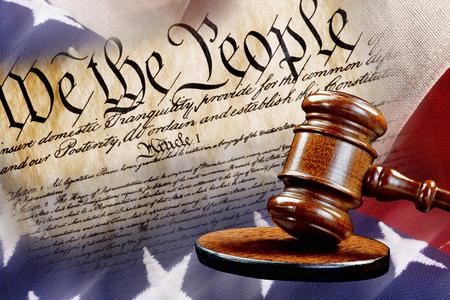 Wij het volk met gerechtigheid van de hamer.