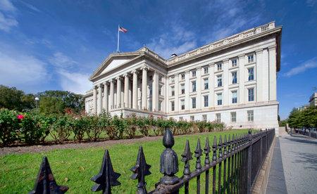The Treasury Department Building in Washington, DC. Editoriali