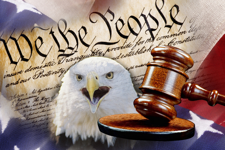 We the People with justice of the gavel.