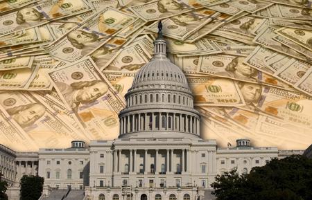Kongressausgaben und Geldverschwendung. Standard-Bild