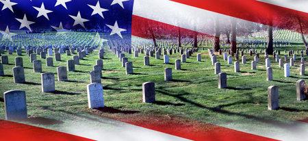 Arlington, Virginia - 9 de agosto de 2018 Cementerio Nacional de Arlington, donde los héroes estadounidenses descansan en paz.