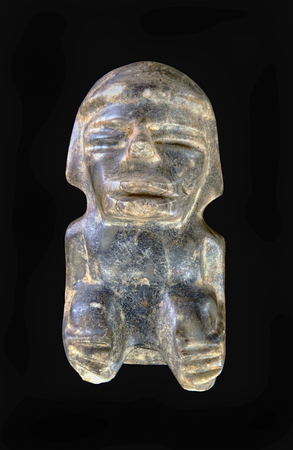 Pre Columbian Mezcala jade/stone figure made around 100 BC.