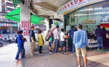 Kaohsiung,Taiwan - De. 8,2018 - Popular morning restaurant in Kaohsiung,Taiwan where lines are always long to get great food. Editorial