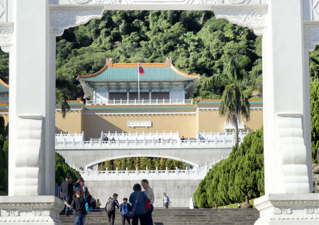 Taipei,Taiwan - Dec. 2, 2018- The National Palace Museum in Taiwan is one of the largest Chinese Imperial artifacts and art works in the world.