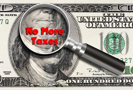 Niente più tasse con la banconota da cento dollari e Franklin ingrandito.