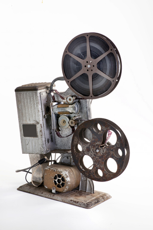 16mm film projector from the 1940s. Stock Photo
