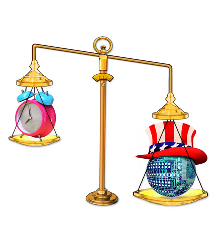 Balance weight scales with time clock and American technology.