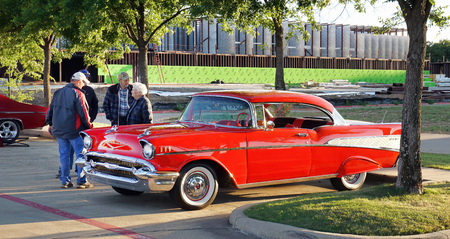 Kennedale,Texas - April 19,2019  Friday night classic car and hot rod show in Kennedale,Texas.
