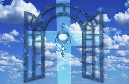 Knocking on heavens door with heavenly skies