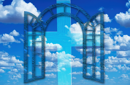 Heavens gate to the universe and skies. Standard-Bild