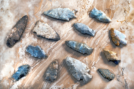 Real American Indian arrowheads made around 6-9 thiusands years ago, they were found in East Texas.