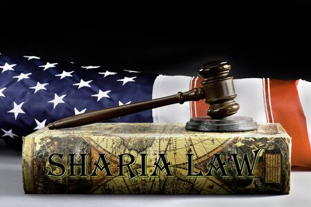 Sharia law book and the American Law.