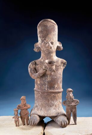 Real Pre Columbian figurines made around 200 BC to 200 AD.