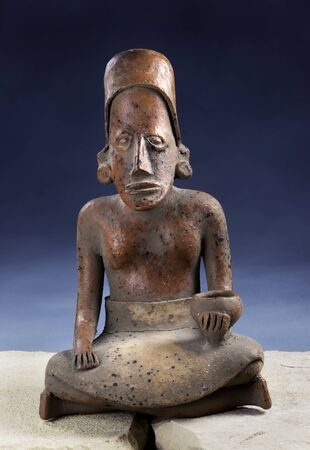 Real Pre Columbian figurine made around 200 BC to 200 AD.