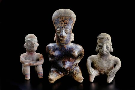 Real Pre Columbian clay figurines made around 200BC to 200AD.