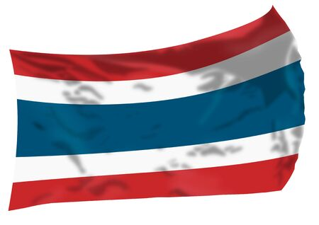 Thailand flag waving in the wind. Imagens