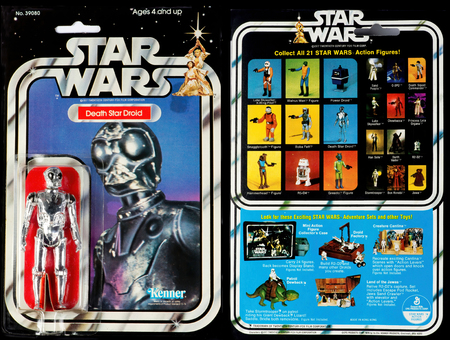 Dallas,Texas - Sept. 8,2019 - Original Star Wars toy from Star Wars Movie in 1977 ,front and back of toy.