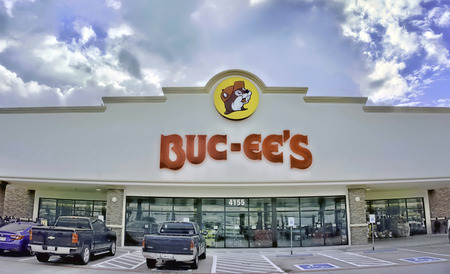 Temple,Texas - Oct.10,2019 -  The Buc-ees chain of larger-than-life mega-convenience stores in Texas have over 60,0000 sq feet of store space and 84 gas pumps.