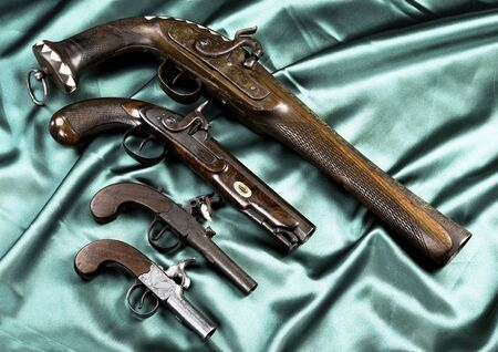 Real antique pistols made from 1820-1850.