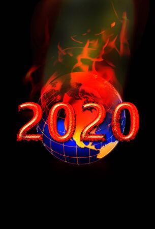 World on fire in 2020 with virus and unrest.