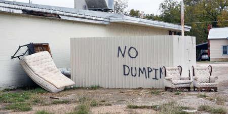 No dumping of trash that has lots of dumped trash.