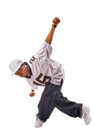 aerobica: Cool young hip-hop dancer making a move