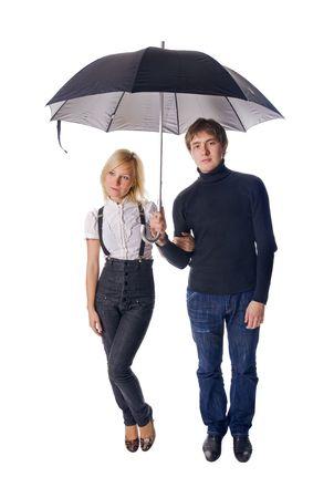 Loving romantic couple isolated on white background Stock Photo - 5716083