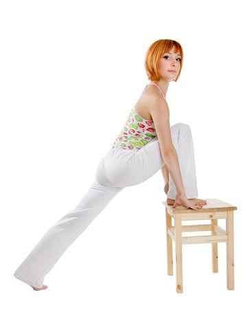 sportswoman: sportswoman isolated Stock Photo