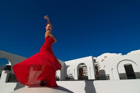 Flamenco-Tänzerin Standard-Bild