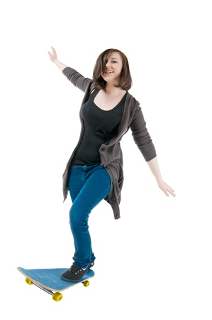 Skater girl photo